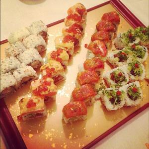 Satisfying that sushi craving.