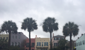 Charleston is known for its colorful waterfront houses.